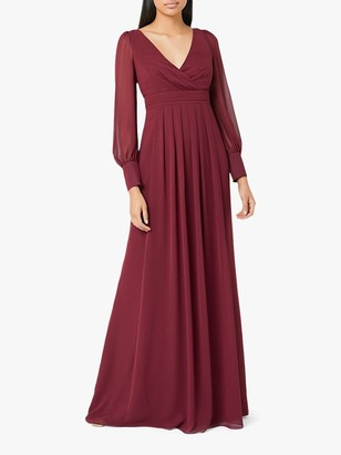 Maids To Measure Suzannah Maxi Dress, Burgundy