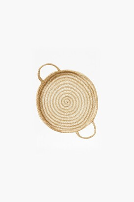 French Connection Small White Spiral Wall Basket