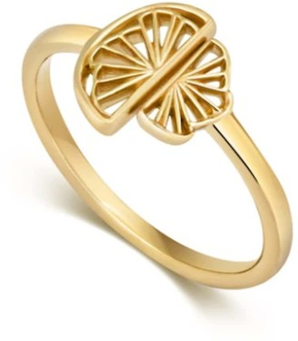 Little By Little Gold Fan Ring | The Wedge Collection