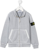 Stone Island Junior - zipped jacket - kids - Cotton - 3 yrs