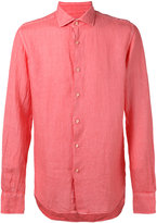 Xacus slim-fit shirt - men - Linen/Flax - 39