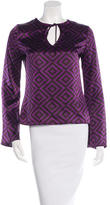 Tory Burch Silk Abstract-Print Top