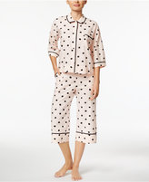 Kate Spade Piped Printed Cropped Pajama Set