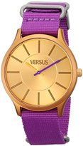 Versus By Versace Women's SO6060013 Less Stainless Steel Watch With Purple Canvas Band