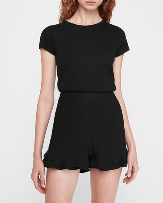 Express High Waisted Soft Ruffle Shorts