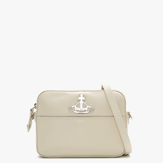 Vivienne Westwood Johanna Beige Leather Cross-Body Bag