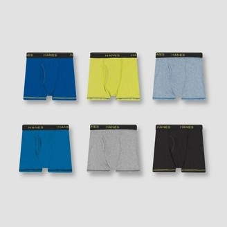 Hanes Boys' 6pk Comfort Coo Boxer Briefs - Coors Vary