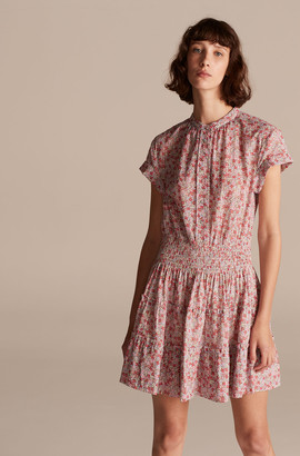 Rebecca Taylor La Vie Eva Floral Smock Waist Dress