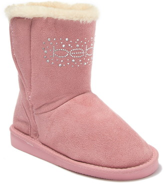 Bebe Microsuede Faux Fur Lined Winter Boot
