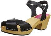 Swedish Hasbeens Women Mirja Open Toe Sandals,39 EU