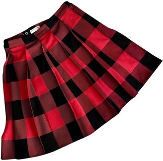 Balenciaga Red Cotton Skirt for Women