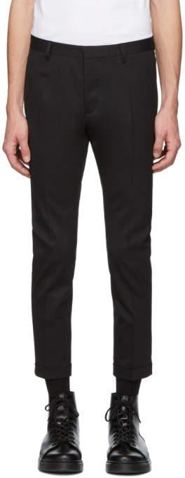 DSQUARED2 Black Chic Wool Skinny Dan Fit Trousers