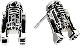 Star Wars Jewelry Women'S 925 Sterling Silver R2D2 Stud Earrings (SALES1SWMD)