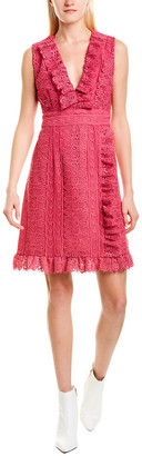 Anna Sui Geo Pop Silk Shift Dress