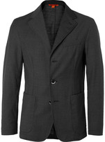 Barena - Grey Slim-fit Unstructured Pin-dot Virgin Wool Suit Jacket
