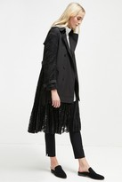 French Connection Beata Cotton Lace Trench Coat