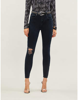 Good American Good Legs distressed high-rise jeans