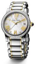David Yurman Classic 34MM Stainless Steel Quartz Watch with 18K Gold and Diamonds
