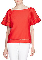 Lauren Ralph Lauren Cotton-Silk Off-the-Shoulder Top