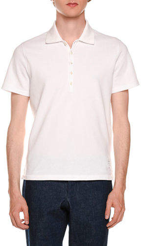 Thom Browne Short-Sleeve Pique Polo Shirt