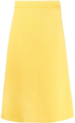 Prada High Rise Back Slit Detail Skirt