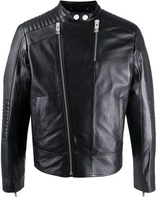 Les Hommes Urban Zipped Biker Jacket