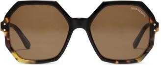 Oliver Goldsmith Sunglasses Yatton 1964 Black Leopard Maze