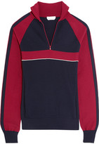 Chloé Silk-blend Jersey Sweater - Navy