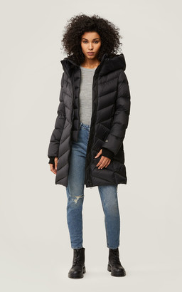 Soia & Kyo ZAHRA slim fit down coat with large hood