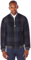 Perry Ellis Large Plaid Wool Jacket