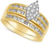 Macy's Diamond Marquise-Cluster Bridal Set (3/4 ct. t.w.)