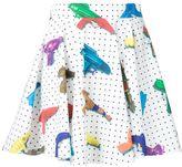 Jeremy Scott squirt gun print skirt