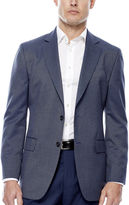 STAFFORD Stafford Travel Year-Round Blue Tic Sport Coat