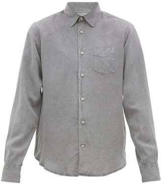 Officine Generale Benoit Pigment-dyed Lyocell Shirt - Mens - Grey