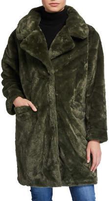 Me Jane Designed In New York Cozy Faux Fur Coat