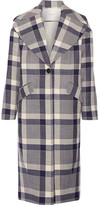 ADAM by Adam Lippes Plaid Wool-blend Coat - Navy