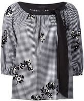 Marc Jacobs floral gingham blouse - women - Cotton - 2