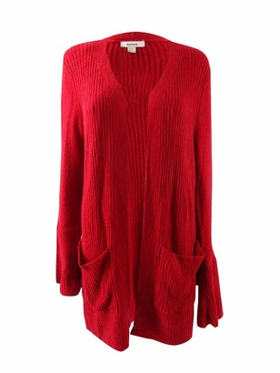 Kensie Women's Warm Touch Open Cardigan with Bell Sleeve