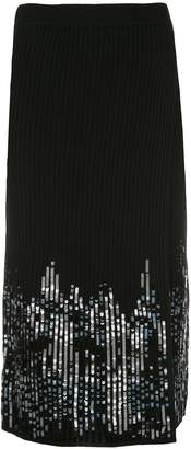 Jonathan Simkhai sequin-embellished ribbed skirt