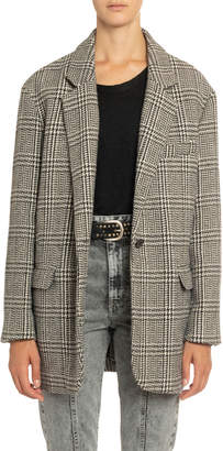 Etoile Isabel Marant Ondine Plaid Single-Button Jacket