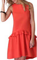 Closet Drop Waist Frilled Dress, Orange