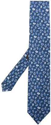 Etro Micro paisley-print silk tie
