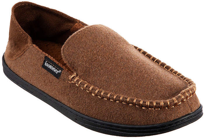 Isotoner Grady Moccasin Slippers with Collapsible Heel