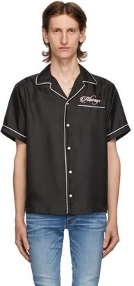 Amiri Black Silk Loving You Pyjama Short Sleeve Shirt