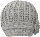 Simplicity Women's Knitted Beanie Cap Winter Crochet Hat, 3-Light Grey