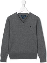 Ralph Lauren logo jumper - kids - Cotton - 2 yrs