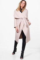 boohoo Petite Alice Waterfall Shawl Coat