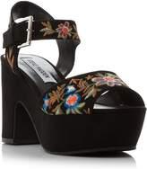 Steve Madden Bonnie sm embroidered platform sandals