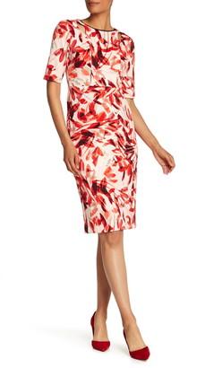 Maggy London Textured Cutout Dress