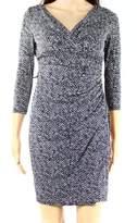 Lauren Ralph Lauren Women's Petite Printed Jersey Dress (8P, Black/Stone)